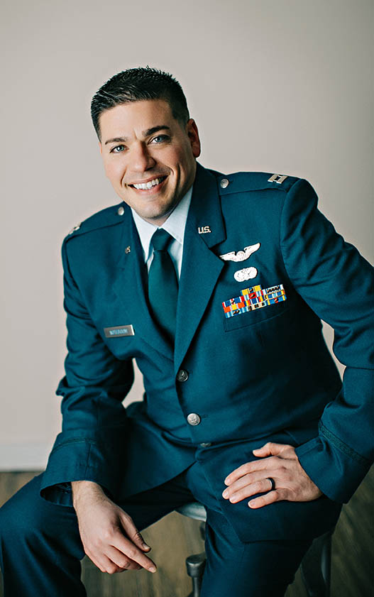 military man smiling