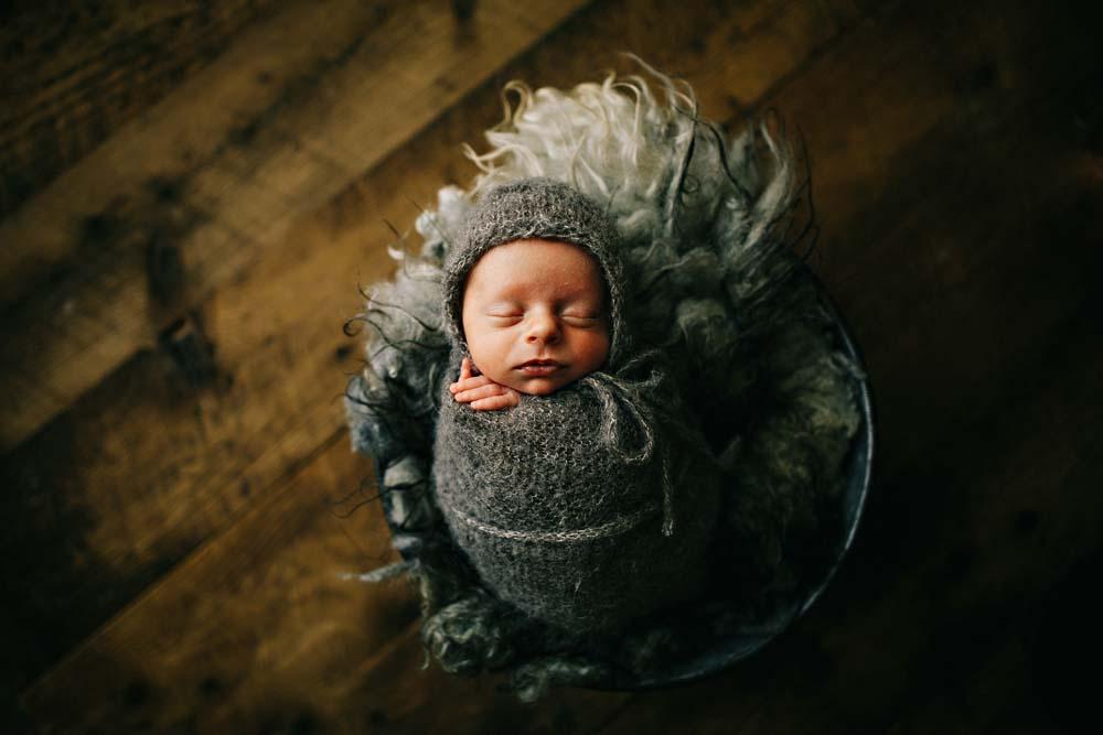 newborn in gray 2